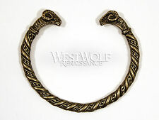 Ram's Head Bracelet --- Viking/Norse/Celtic/Greek/Medieval/Aries/Torc/Bronze