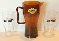 Rare Bulmers Original Cider Jug & Bulmers Cider 570ml Glasses x 2