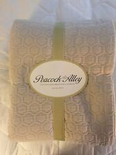 Peacock Alley Geometric Stonewashed Matelasse King Coverlet in Taupe - New
