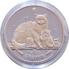 2015 Isle of Man 1-oz Proof Silver Selkirk Rex Cats - Free Shipping!