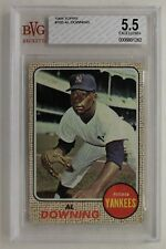 Al Downing New York Yankees 1968 Topps Card #105 Beckett Graded BGS 5.5