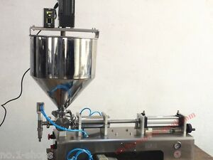 mixing hopper,100-1200ml paste chilly sauce piston filling machine with mixer
