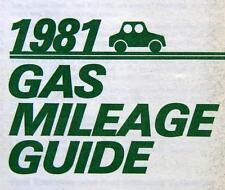 EPA ENVIRONMENTAL PROTECTION AGENCY AUTOMOBILE GAS MILAGE BROCHURE 1981 VINTAGE