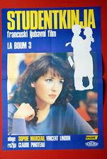 LA BOUM III L'ETUDIANTE SOPHIE MARCEAU 1988 RARE EXYU MOVIE POSTER