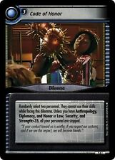 Star Trek CCG 2E Strange New Worlds Archive Foil 7A1 Code Of Honor EX