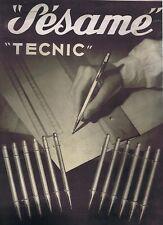 carton Publicitaire pour les Stylos Sésame Tecnic