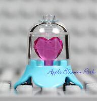NEW Lego JEWEL HEART BLUE AZURE DISPLAY CASE w/Princess Friends Pink Gem Crystal