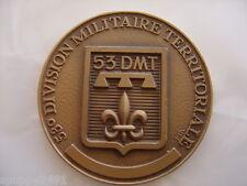 MEDAILLE DE TABLE 53EME DMT 70MM DE DIAMETRE