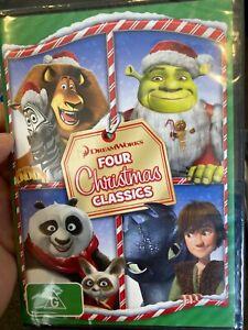 Dreamworks Four Christmas Classics NEW/sealed region 4 DVD (kids / animation)
