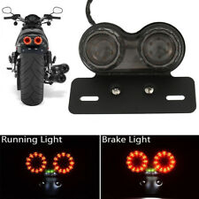Motorcycle Integrated Running Turn Signal Tail LED Light License Plate Bracket