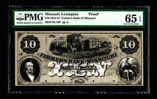 1857-67 $10 Farmers Bank of Missouri PMG GEM 65 EPQ