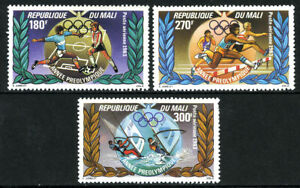 Mali C472-C474,MNH Pre-olympics,Los Angeles. Football,Haies,Planche à Voile ,