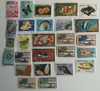 25 Different Wallis and Futuna Stamps Collection