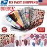 50Pcs/Set Holographic Nail Art Transfer Sticker Flower Nail Foils Decal Decor