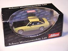 Opel Manta B GTE GT/E gelb giallo jaune yellow, Schuco #02761 in 1:43 BOXED!