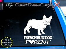 French Bulldog PARENT(S) - Vinyl Decal Sticker / Color Choice - HIGH QUALITY