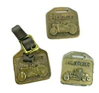 Lot 3 VINTAGE HUBER ROLLERS MAINTAINERS & GRAINERS ADVERTISING WATCH FOB