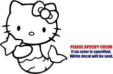 "Vinyl Decal Sticker - Hello Kitty Mermaid Car Truck Bumper Window Jdm Fun 9"""
