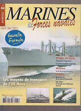 MARINES & Forces Navales N°84 CUIR CLASSE NORMANDIE / ARGONAUTE / CT LEOPARD