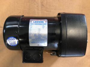 LEESON C4T17FZ47A, Code 107025, AC Gearmotor, 1/3 Hp, 18 Rpm, 1089 Lb-in