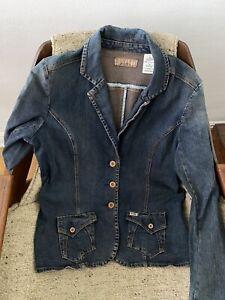 Levi Strauss Jacket Denim Stretch Fitted Blazer XL