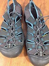KEEN Newport Mens Waterproof Gray w/ Blue Athletic Sandals Size US 12 UK 11