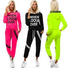 Trainingsanzug Sportanzug Jogginganzug Hose Kapuzenpullover Damen OZONEE X/1001