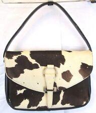 Vtg Mayorga Leather Cow Hair Hide Handbag Purse Satchel Western Cowgirl Rodeo