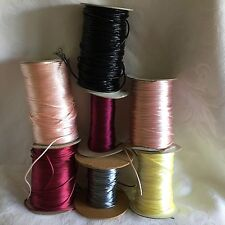 10 m length of 2mm Satin Cord Rat Tail various colours