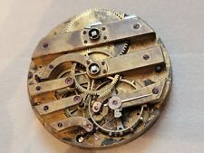 Watch Movement Gold Endcap as is Rare Ulysse Breting Locle Pivoted Detent Pocket