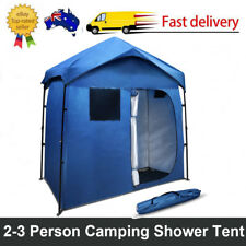 Pop Up Double Camping Shower Toilet Tent Outdoor Portable Change Room Ensuite AU