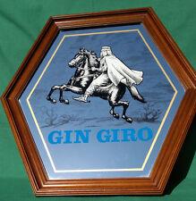 "Large Vintage Spanish Gin Giro Advertising Pub Mirror  - 22.25"" by 22.25"""