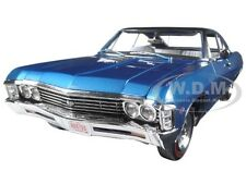 1967 CHEVROLET IMPALA SS 427 MARINA BLUE LTD 1002PCS 1/18 BY AUTOWORLD AMM1083