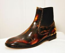 NEW MAISON MARTIN MARGIELA MULTICOLOR LEATHER ANKLE BOOT SIZE 39