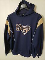 Reebok NFL Team Apparel Men's St Louis Rams Football Pullover Hoodie XLused