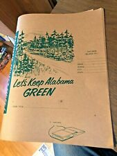vintage Pulp & Paper Industry of Alabama elementary school book covers forestry