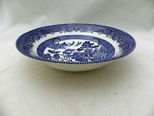 """Churchill of England - Blue Willow - 8"""" round Vegetable serving Bowl - New"""