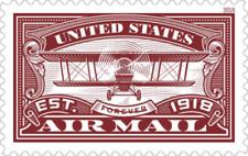 USA Sc. NEW (50c) Airmail Anniv. (red) 2018 MNH