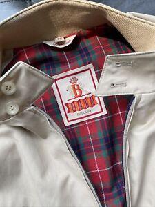 Baracuta England G9 Harrington Jacket Natural Size 38