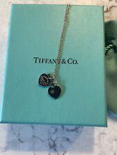 Tiffany & Co Mini Double Heart Tag Pendant Necklace
