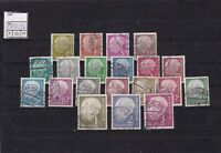 germany 1954 - 60 used  stamps ref 13301