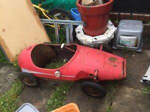 Vintage metal child's  Pedal racing Car spares repairs restoration