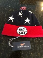 "Vineyard Vines ""Stars & Stripes"" Boys Winter Knit Hat, NWT -Red/White/Blue Youth"