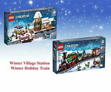 LEGO 10254 10259 WINTER HOLIDAY TRAIN & VILLAGE STATION CREATOR AFOL GIFT TOY 5%