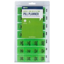 Large Medication Pill Organizer Weekly Daily Dose Planner Dispenser Case Box New