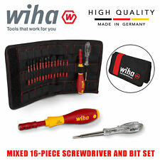 Wiha SlimVario Electricians Interchangeable VDE 16pcs Screwdriver Set 36068