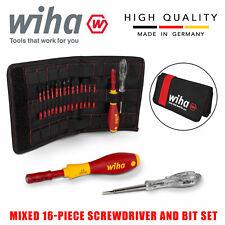 Wiha Slimvario Electricians Interchangeable Vde 16pcs Screwdriver Set 36068