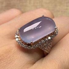 Vintage 925 Silver Purple Moonstone Ring Women Bridal Wedding Jewelry Sz5-10