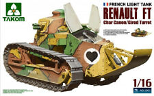 RENAULT FT 17 French Light 1:16 TANK CHAR CANON/Girod Turret TAKOM 1001 1. WK