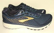 NEW Brooks Ghost 12 Running Shoes Size 10.5 D 1103161D489 Blue/ Gold MSRP $160